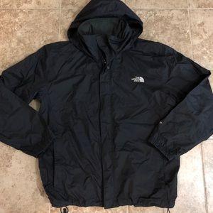 Men's Black Zip Up North Face Rain Jacket